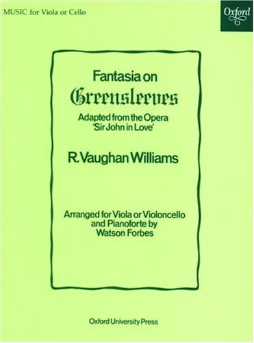Fantasia on Greensleeves: Viola or cello solo and piano by Forbes, Watson (1947) Paperback