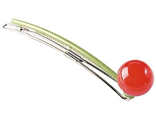 2pcs Doux Barrette Barrette Pin Belle boule cheveux Head Wear rouge