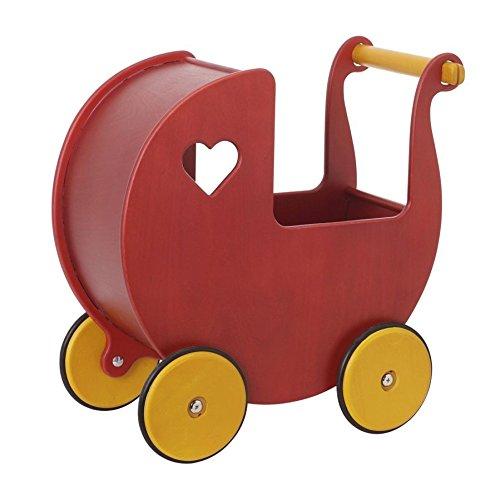 Preisvergleich Produktbild Mini Holz Puppenwagen - als Dekoration oder für Minipuppen