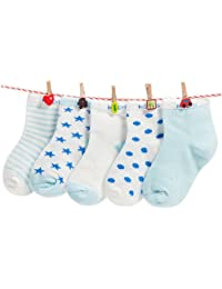 FOOTPRINTS Organic cotton Baby Socks- 12-30 Months - Pack of 5 Pairs