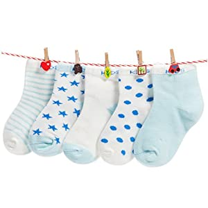 FOOTPRINTS Baby Girl's Cotton Socks (Pack of 5)