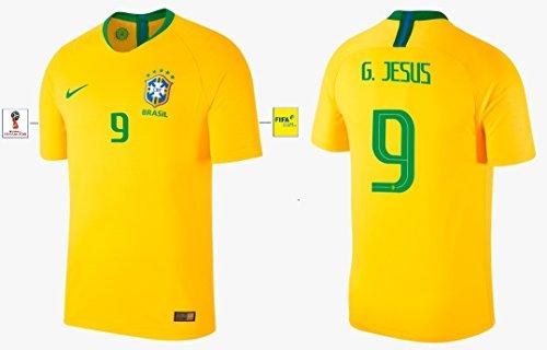 Nike Group Trikot Herren Brasilien WM 2018 Home - G. Jesus 9 (XL)