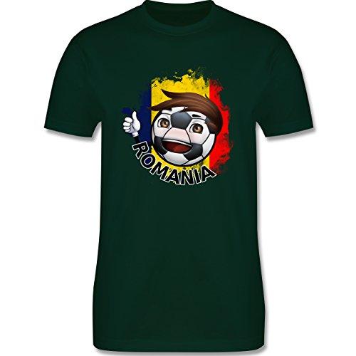 EM 2016 - Frankreich - Fußballjunge Rumänien - Herren Premium T-Shirt  Dunkelgrün