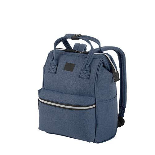 Rada Rucksack RS/19/M 14l Freizeitrucksack für Herren und Damen, Leichter Daypack für Jungen und Mädchen, geeignet für Arbeit und Sport, wasserabweisendes Polyester (Blue 2 Tone Cognac)