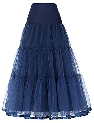 Women's Wedding Underskirt Long Ballet Tutu Skirt Full Petticoat Slip JS0421-6 S