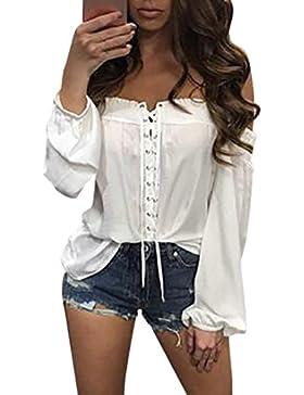 Culater Moda Mujer Camisetas Verano suelta informal blusa