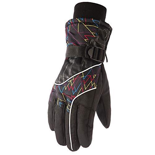 Wasserdichte Skihandschuhe Wasserdichte Thermische Handschuhe for Frauen-Mann-Winter-warme Handschuhe mit for Arbeit Fahren Skilaufen Radfahren Reiten oder Fahren Rennen Sie Ihren Hund und andere Gehe