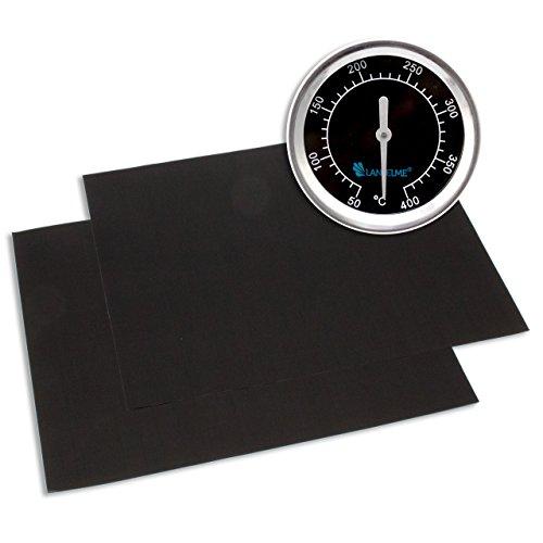 Lantelme termometro tappetini 5835barbecue e grill Black 400Series-impermeabile in acciaio inox. E analogico, in bimetallo