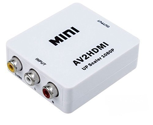 KriTech Mini Converter (Mini AV to HDMI Video+Audio) for VCR DVD Support 720P 1080P (White)  available at amazon for Rs.999