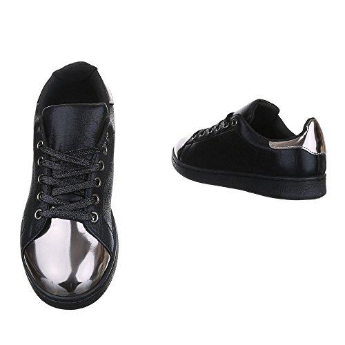 Ital-Design , chaussons d'intérieur femme Schwarz