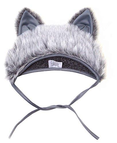 Faschingskostüm Wolf Mütze mit Ohren Kinderkostüm Kappe Hut Wolf Karneval Kostüme für Kinder Festtage Größe S/M Geschenk (Kostümen Wolf Hut)