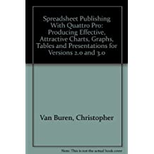 Spreadsheet Publishing With Quattro Pro: Producing Effective, Attractive Charts, Graphs, Tables and Presentations for Versions 2.0 and 3.0 by Van Buren, Christopher (1991) Paperback