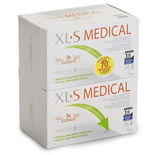 XL-S Medical Captagrasas para Perder Peso - Capta 28{9bb082f14d6ec31425ec9caa015a8f7b49d1afe0d0f44c47bf338f028af32a50} de la Grasa Ingerida1 - Comprimidos para Adelgazar -  Pack 2 x 180 Comprimidos, 2 Mes de Tratamiento