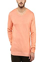Spykar Mens Orange Regular Fit Mid Rise Sweaters (X-Large)