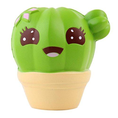 Stress Relief Squeeze Spielzeug für Kinder & Erwachsene, Hansee Kaktus Creme duftenden Squishy langsam steigenden Squeeze Strap Kinder Spielzeug (Presse Und Dichtung Groß)