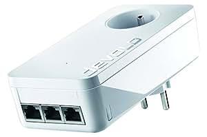 Devolo 9897 dLAN 1200 Triple+ adaptateur CPL (Internet à 1200 Mbps via la prise électrique, 3 ports Gigabit, 1 adaptateur CPL, prise de courant intégrée, adaptateur réseau, blanc