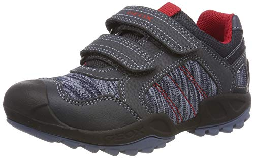 Geox J New Savage Boy C, Zapatillas para Niños, Azul (NavyRed C0735), 35 EU