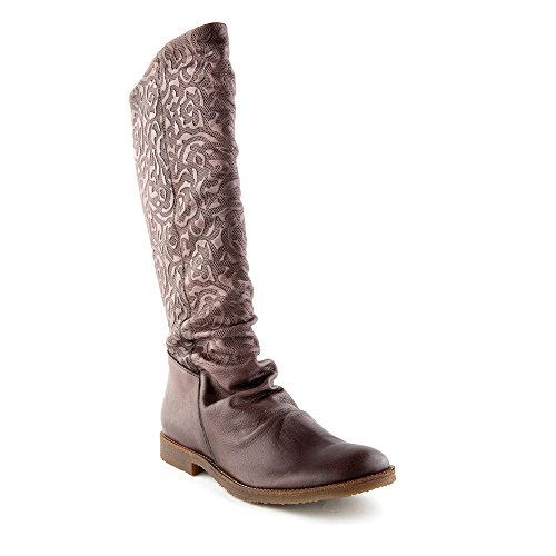 Caem Marrom Clássico Tamanho Felmini 8655 0 Femininos Sapatos Eu Genuíno Conflito Altas De Botas Couro XOqwEPw