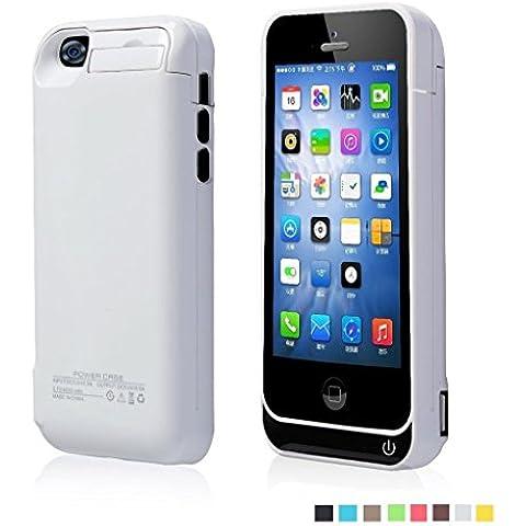 Funda Batería Extra 4200Mah para iPhone 5/5S/5C Cargador Batería External Recargable Carcasa Protectora de Noza tec - Blanco