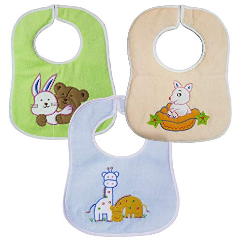 My Newborn Baby Bibs Set of 3 Fancy Embroidery Aprons