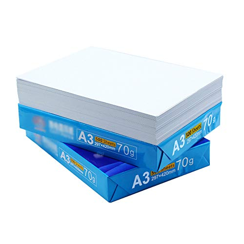 Dy a3 carta per fotocopia 500 fogli/confezione a3 carta per stampa carta per copia disegno carta per schizzo bianco 80g / 70g formato 297mm x 420mm ## (dimensioni : 70)