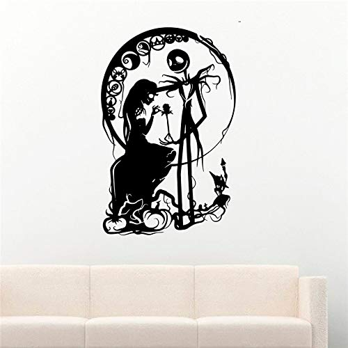 eber Girl Silhouette Halloween Dekoration Aufkleber Vinyl Wand Vinyl Kinderzimmer Kinderzimmer Wandaufkleber # 58 X 90 CM ()