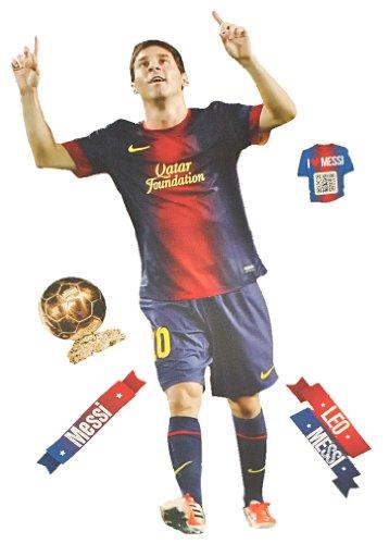alles-meine.de GmbH XL Set: Wandtattoo / Sticker -  Lionel Leo Messi - Fußballer  - Postersticker - Wandsticker / Aufkleber - Poster Fußball - FC Barcelona - Nationalmannschaft..