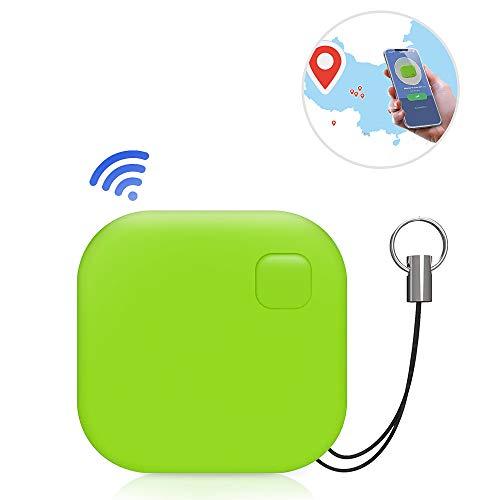nder, Wireless Key Finder Mini Bluetooth Bidirektionaler Alarm Anti-Verloren Tracker für Key, Geldbeutel, Haustier, Geldtasche für iOS und Android, Grün ()