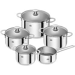 BSF 74000-000-0 Bordeaux Set de casseroles de Cuisson 5 pièces adaptées aux plaques à Induction