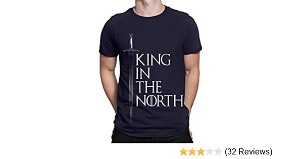 71947cbe Silly Punter Men's Cotton Game Of Thrones King In The North T-Shirt:  Amazon.in: Clothing & Accessories