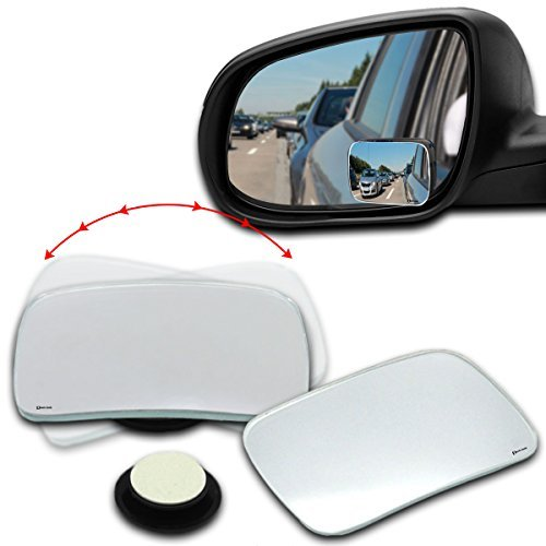 Auto Totwinkel Seite konvexen Spiegel Rearview 360 Weitwinkel Einstellbare Runde Schwarzer Rahmen