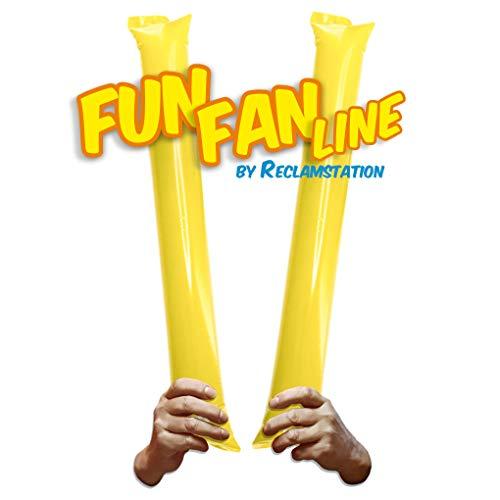Fun Fan Line® - Pack 100 pares de Aplaudidores hinchables ruidosos de...