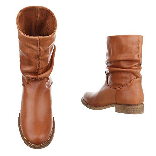 Damen Stiefeletten Boots Stiefel Schuhe Beige Schwarz Leder Yb6fyg7