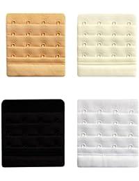 BH-Verlängerung BH Erweiterung BH-Vergrößerung in 4 Farben und 4 Stärken Bra Extender Schwarz, Weiß, Haut, Creme inkl. Mbyb-Broschüre