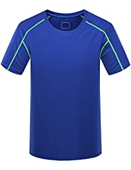 Linyuan Mens Outdoor Quick Drying Breathable Slim Fit Short Sleeve Sports T-Shirt