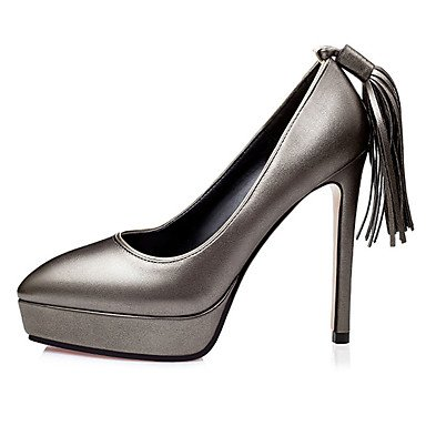 Moda Donna Sandali Sexy donna tacchi tacchi estate pu Casual Stiletto Heel fiocco nero / rosso / argento / grigio altri Red