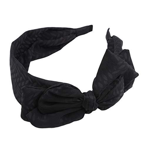 ZALING Süß Korea Stil Groß Bowknot Haarband Bogen Stirnband Ornamente haarbänder schwarz
