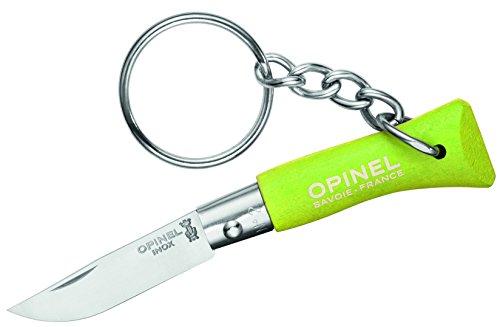 Opinel Couteau avec Manche en Bois Vert Mini, Multicolore, Taille Unique