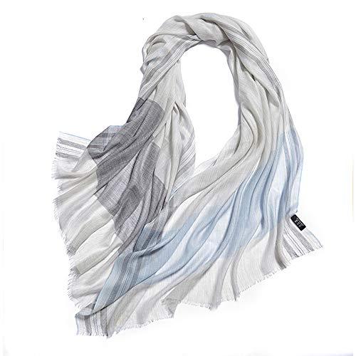 PRTQI Senior Thick Warm Essentielle Weich Gestrickte Hohe Imitation Cashmere Schal Gitter Lätzchen Damen Lässigen Schal Shawl Herbst Und Winter,Blue