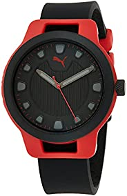 Puma Reset V1 Men's Black Dial Silicone Analog Watch - P