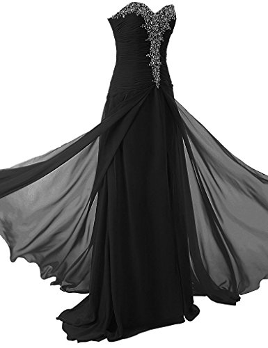 CoutureBridal® Robe Femme Bustier Robe Longue de Soirée Cérémonie Cocktail en Chiffon Blanc