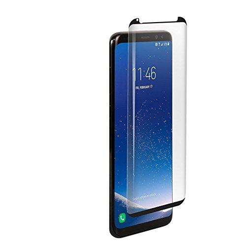 HONTECH Galaxy S9/Galaxy S9 Plus Displayschutzfolie 3D gebogen volle Abdeckung HD gehärtetes Glas für Samsung Galaxy S9/S9 Plus, Galaxy S9 Plus, schwarz -