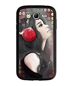 Fuson Music Lover Girl Back Case Cover for SAMSUNG GALAXY A7 - D3980
