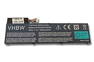 Batterie Li-Polymer 4850mAh (11,1 V) pour ordinateur Acer Aspire série M3- M5. Remplace la batterie type 2217-2548, AP12A3i, AP12A4i, BT.00304.011 etc