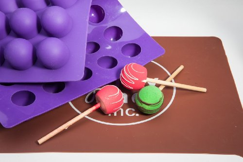 Truffly Made. XL Round Chocolate Truffle, Jelly and Candy Mold, 35 cavities, One step candy pop-out by Truffly Made (35 Mold Chocolate)