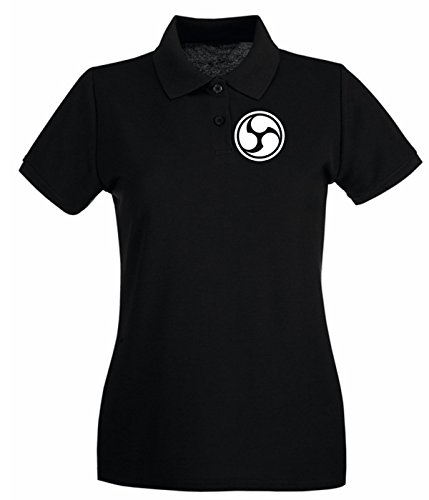 Cotton Island - Polo pour femme TIR0234 666 Triple Six Noir