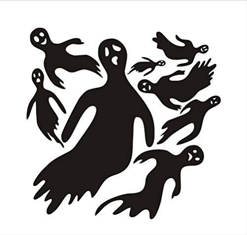 8 Stücke Happy Halloween Teufel Geist Wandaufkleber PVC Vintage Poster Adesivo De Parede PVC Home Aufkleber Für Kinderzimmer 43X42 cm