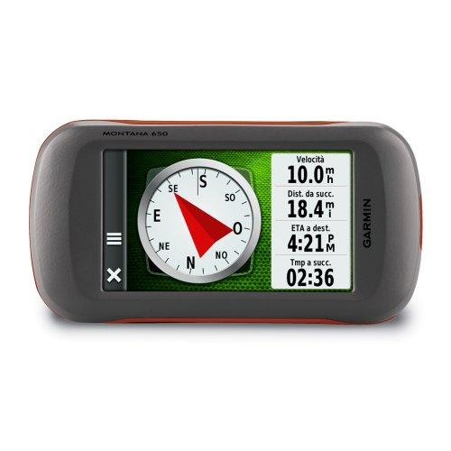 """Garmin Montana 650 Gps Portatile, Schermo 4"""" Touch, Camera 5 MPX, Colore: Nero, Grigio, Rosso (Include DVD City Navigator Europa)"""