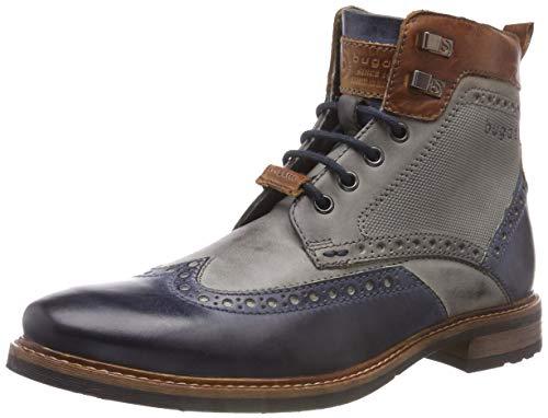 bugatti Herren 311377371111 Klassische Stiefel, Mehrfarbig (Dark Blue/Grey 4115), 45 EU