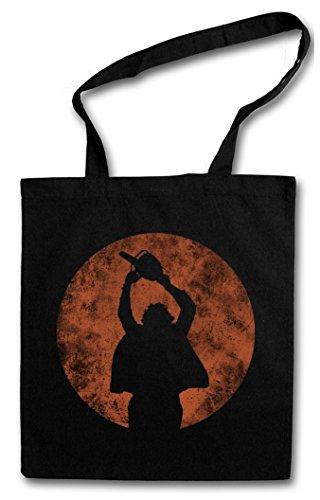 CHAINSAW MAN Shopper Reusable Hipster Shopping Cotton Bag Einkauftasche Einkaufstasche Tasche Stoff Stofftasche Jutebeutel Beutel ? Kettens?gen Massaker Texas Horror Movie Massacre Leatherface Mask